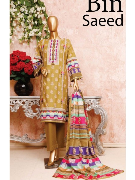 BIN SAEED Unstitched Cambric Embroidered Collection Vol-02 D-08