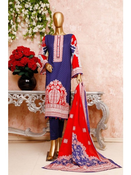 BIN SAEED Unstitched Cambric Embroidered Collection Vol-02 D-09