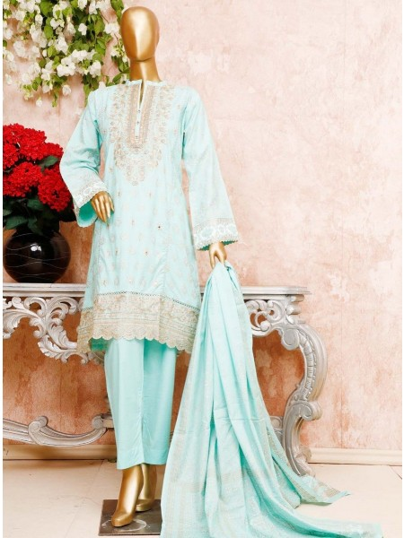 BIN SAEED Unstitched Cambric Embroidered Collection Vol-02 D-10