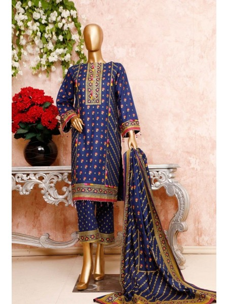 BIN SAEED Unstitched Cambric Embroidered Collection Vol-02 D-11