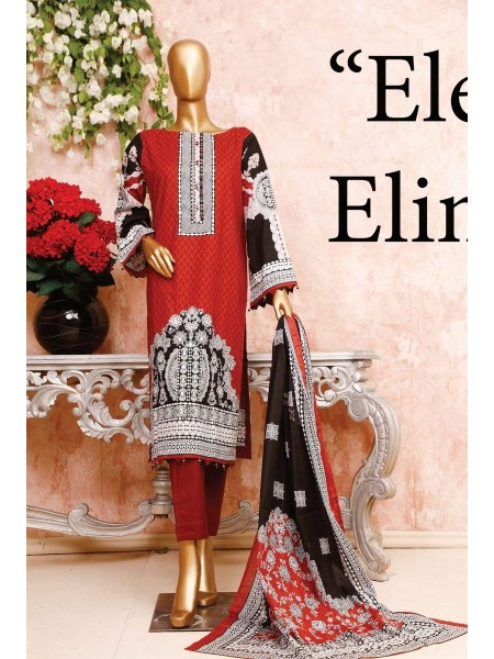 BIN SAEED Unstitched Cambric Embroidered Collection Vol-02 D-13