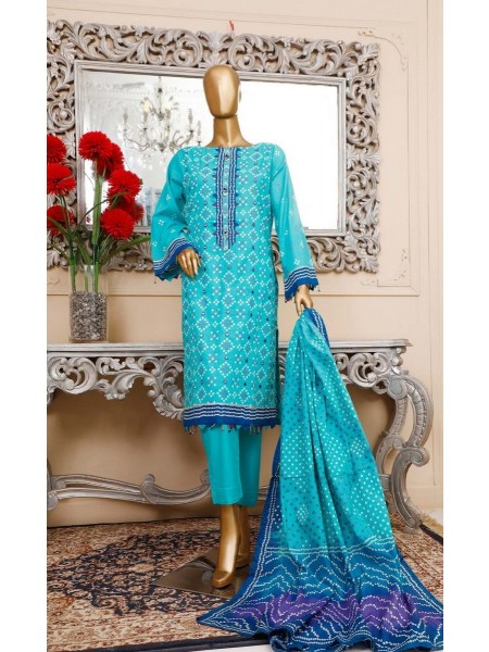 BIN SAEED Unstitched Cambric Embroidered Collection Vol-02 D-14
