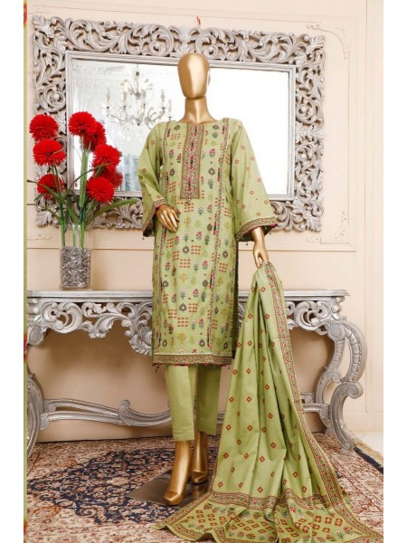 BIN SAEED Unstitched Cambric Embroidered Collection Vol-02 D-15