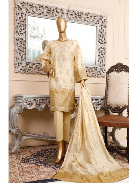 BIN SAEED Unstitched Cambric Embroidered Collection Vol-02 D-18