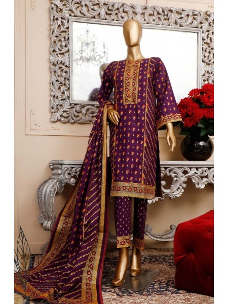 BIN SAEED Unstitched Cambric Embroidered Collection Vol-02 D-19