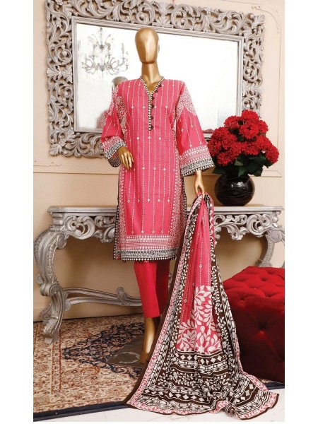BIN SAEED Unstitched Cambric Embroidered Collection Vol-02 D-20