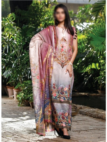 FIRDOUS UNSTITCHED CAMBRIC COLLECTION D-02