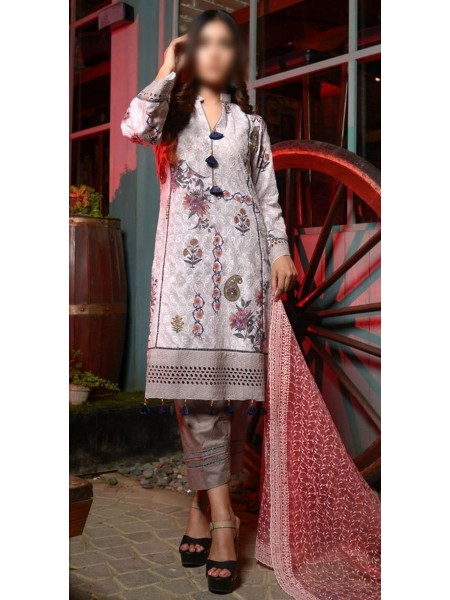 HALIMA SULTANA Unstitched Winter Kari Collection D-04 CAMELLIA
