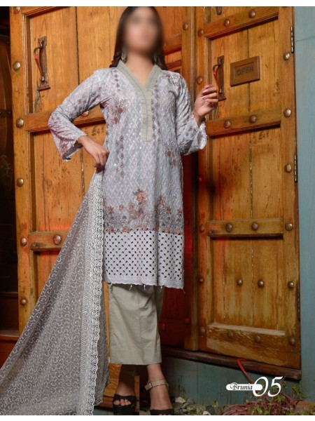HALIMA SULTANA Unstitched Winter Kari Collection D-05 BRUNIA