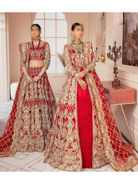 IMROZIA Unstitched Bridal Collection 20 D-03 Rose Glamour