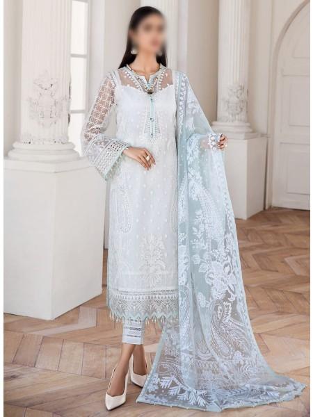 JAZMIN Mahpare Luxury Chiffon Un-Stitched Collection D-01 ESFIR