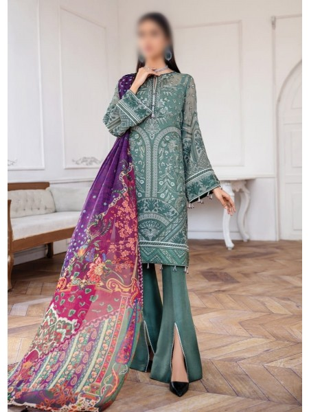 JAZMIN Mahpare Luxury Chiffon Un-Stitched Collection D-09 VASL