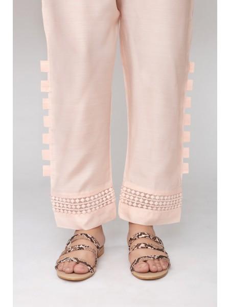 Jofia Embroidered Silk Trouser D-JST 118Pink