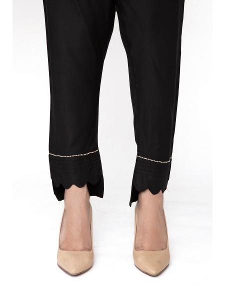 JOFIA Embroidered Silk Trouser20 Vol-02 D-TR 117 TAIL-Black
