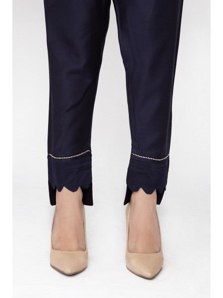 JOFIA Embroidered Silk Trouser20 Vol-02 D-TR 117 TAIL-Blue