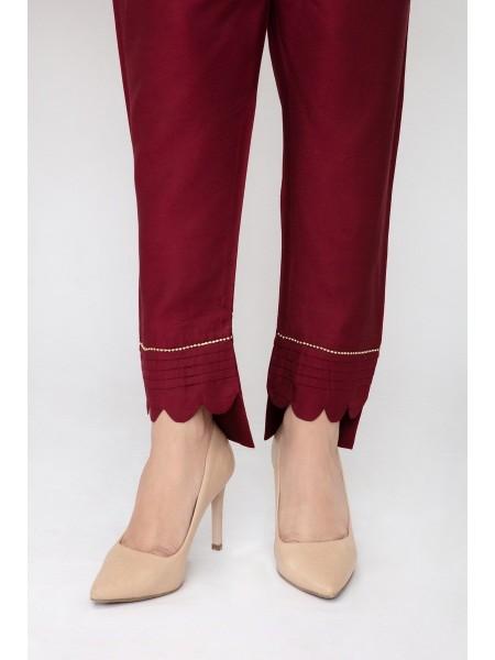 JOFIA Embroidered Silk Trouser20 Vol-02 D-TR 117 TAIL-Maroon