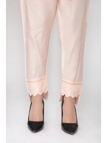 JOFIA Embroidered Silk Trouser20 Vol-02 D-TR 117 TAIL-Pink