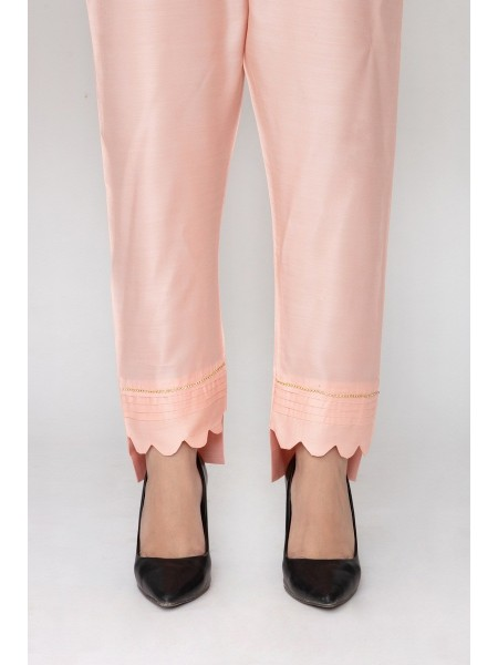 JOFIA Embroidered Silk Trouser20 Vol-02 D-TR 117 TAIL-Tea Pink