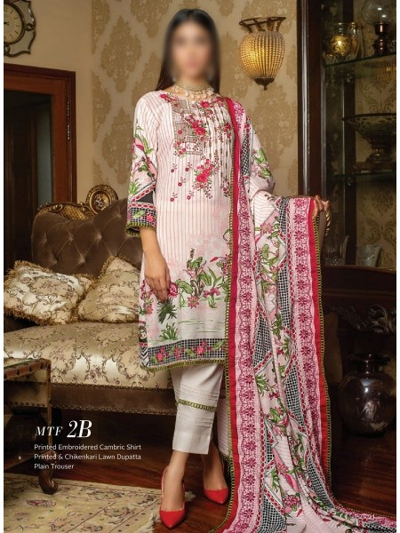 MTF Printed Embroidered Unstitched Chikenkari Cambric Collection20 D-2B
