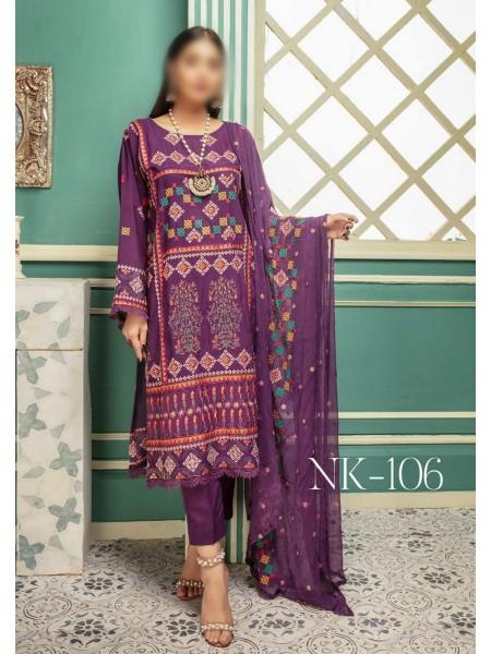 NUR Noor-e-Chashm Unstitched by Khoosbsurat D-NK 106