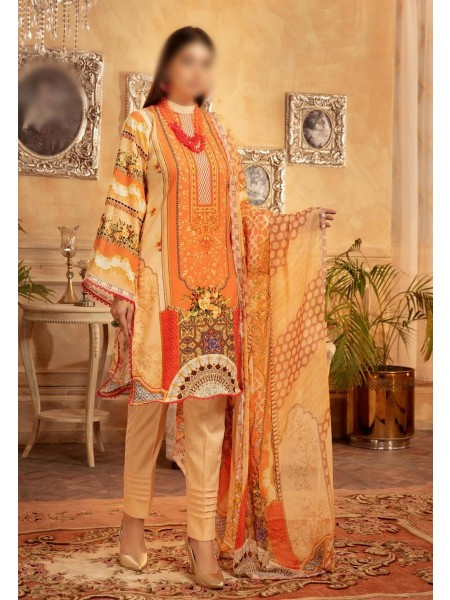 NUR Rang Nagar Printed Unstitched Karandi Collection D-RN 07