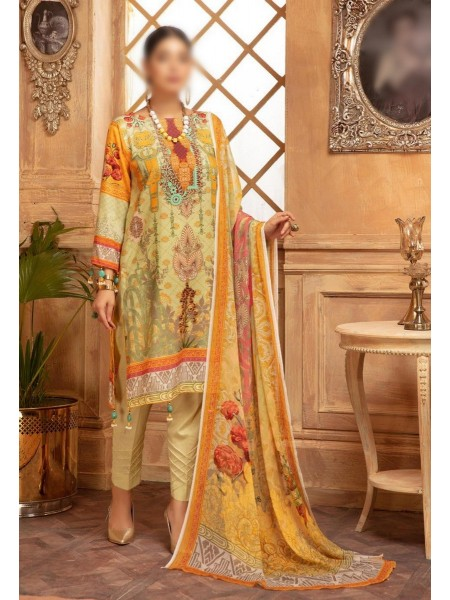 NUR Rang Nagar Printed Unstitched Karandi Collection D-RN 09
