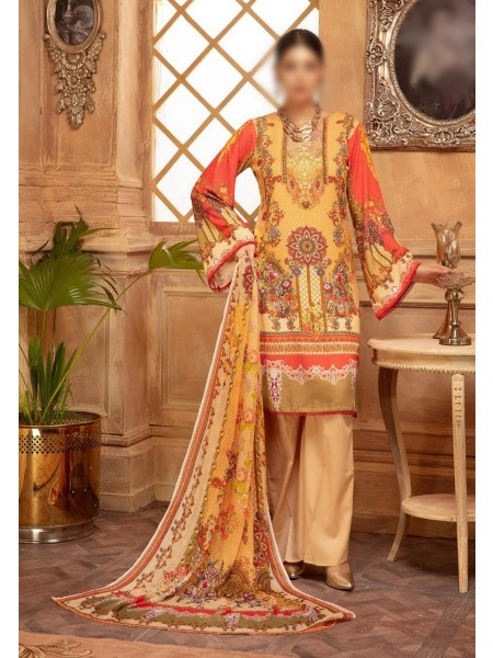 NUR Rang Nagar Printed Unstitched Karandi Collection D-RN 13