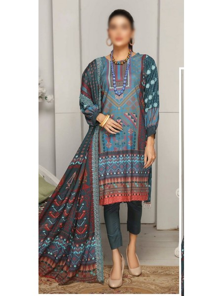 RANGRITI Digital Unstitched Viscose Printed Embroidered Collection D-07