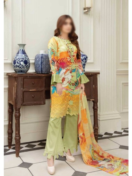 RIAZ ARTS Aafreen Embroidered Viscose Chikan Kari Collection - D-AF 101