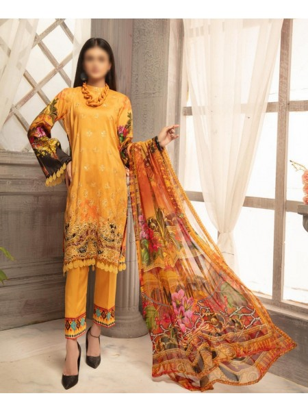 RIAZ ARTS Mahees Embroidered Unstitched Digital Viscose Collection D-05
