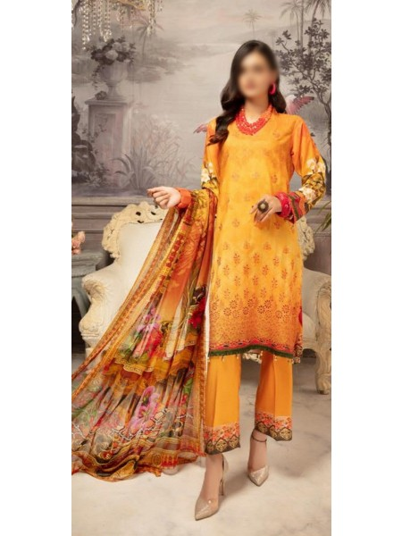 RIAZ ARTS Mahees Embroidered Unstitched Digital Viscose Collection D-10