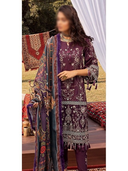 RIAZ ARTS Nureh Embroidered Khaddar Unstitched Collection D-NW 05