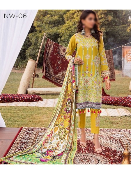 RIAZ ARTS Nureh Embroidered Khaddar Unstitched Collection D-NW 06