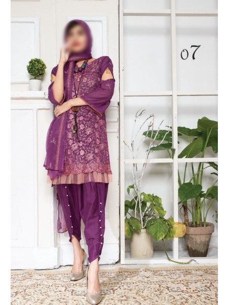 SEHAR Swiss Pastel Unstitched Luxury Embroidered Swiss Voile Collection V-02 D-07