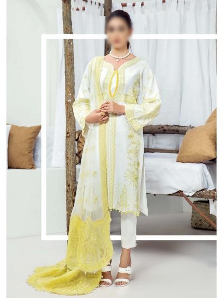 SERENE Premium La - Belleza Unstitched Karandi Collection D-SP-K09 ALLURING AMBER