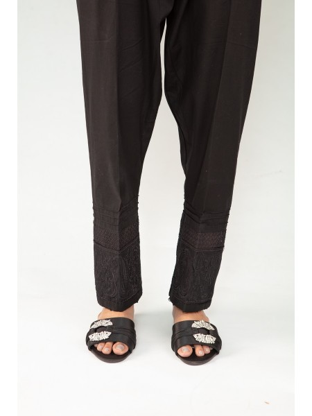 Signature Cotton Pants Collection Vol-02 D-Trouser Emb 03 Black