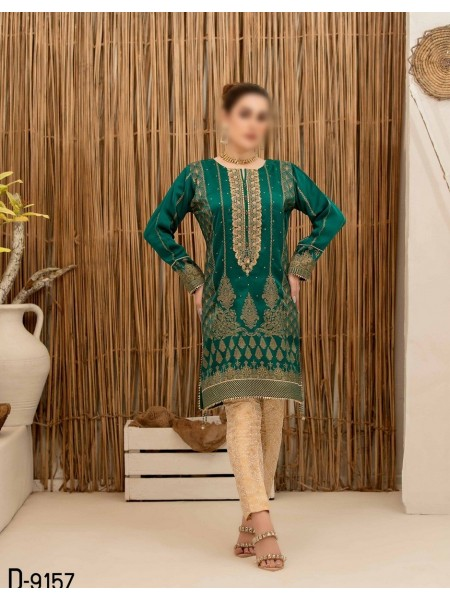 TAWAKKAL Mystique Fancy Stitched Silk Screen Print Kurti D-9157