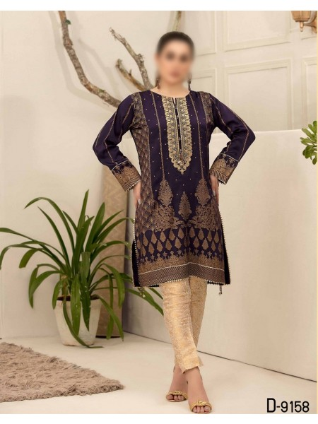 TAWAKKAL Mystique Fancy Stitched Silk Screen Print Kurti D-9158