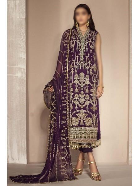 ZARIF Mah e Gul Wedding Wear Unstitched Chiffon Collection D-ZW 04 HAYAT