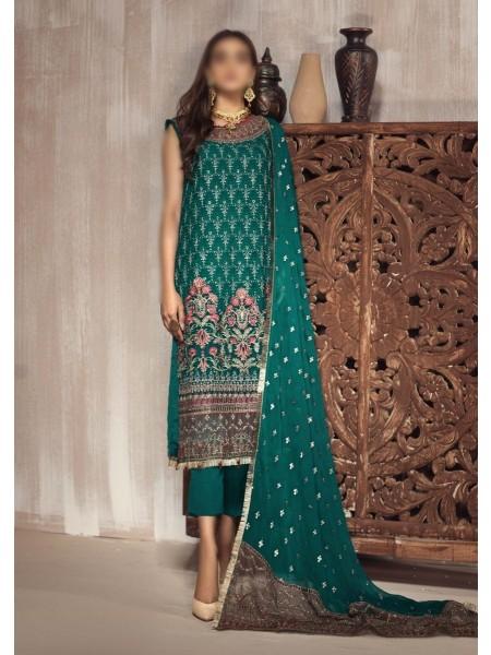ZARIF Mah e Gul Wedding Wear Unstitched Chiffon Collection D-ZW 05 ABSHAAR
