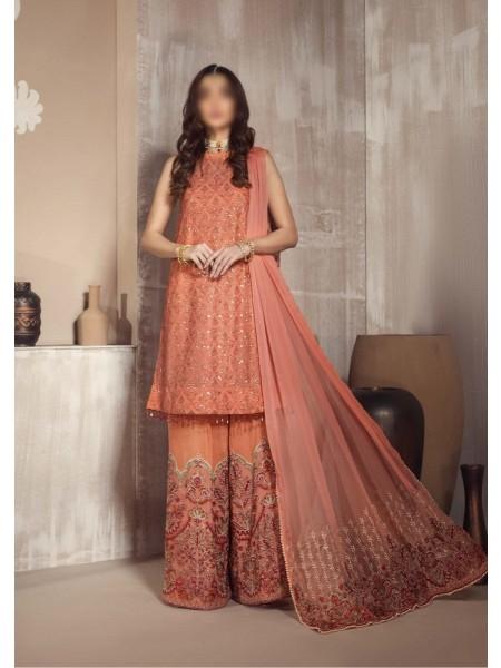 ZARIF Mah e Gul Wedding Wear Unstitched Chiffon Collection D-ZW 10 AFSANAY