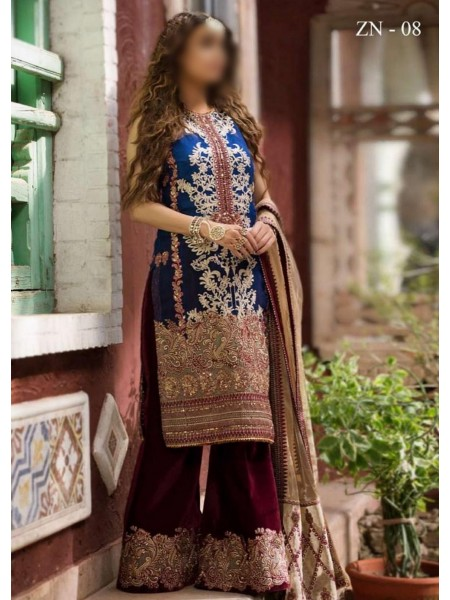 Asifa & Nabeel Unnstitched Festive Collection20 D-ZN 08