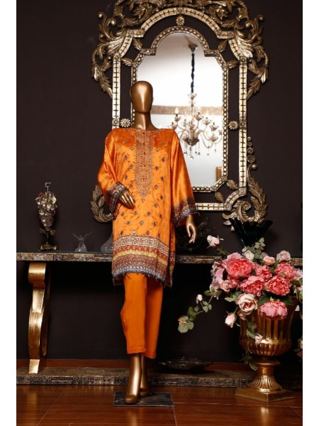 BIN SAEED Silk Embroidered Tunic Collection Vol 04 D-02