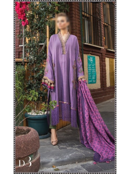 MARIA B LINEN WINTER COLLECTION (Unstitched)'20 D-03
