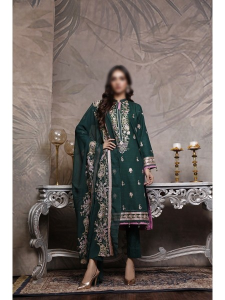 NAFEES SLUB UNSTITCHED EMBROIDERED COLLECTION VOL-01 D-02