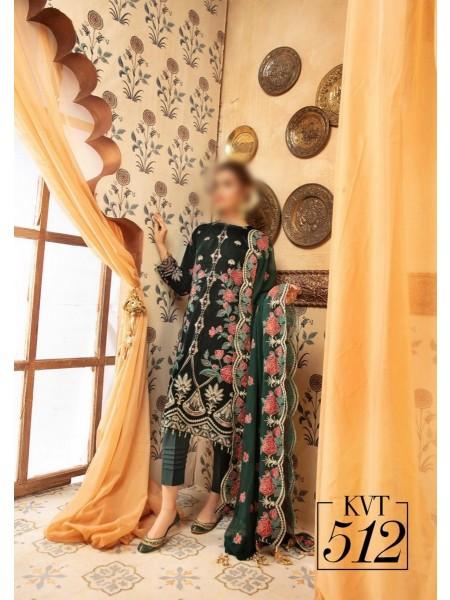 NUR Ibteda Unstitched Embroidered Velvet Collection D-KVT 512