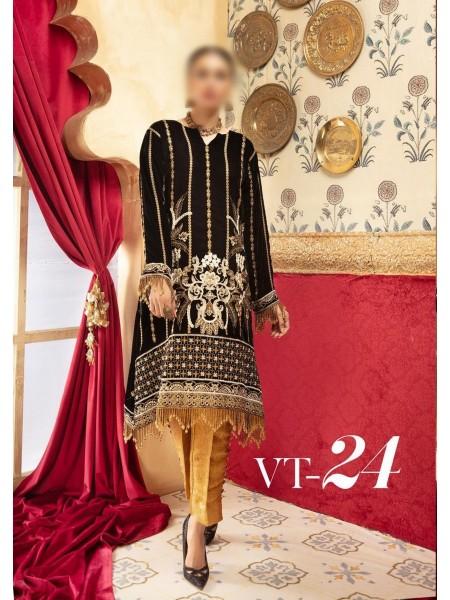 NUR Khoobsurat Embroidered Unstitched Velvet Collection D-VT 24
