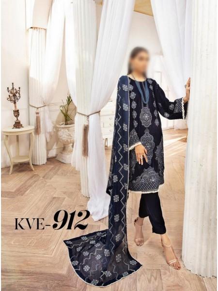 NUR Khoobsurat Luxe Ornamental Unstitched Collection D-KVE 912