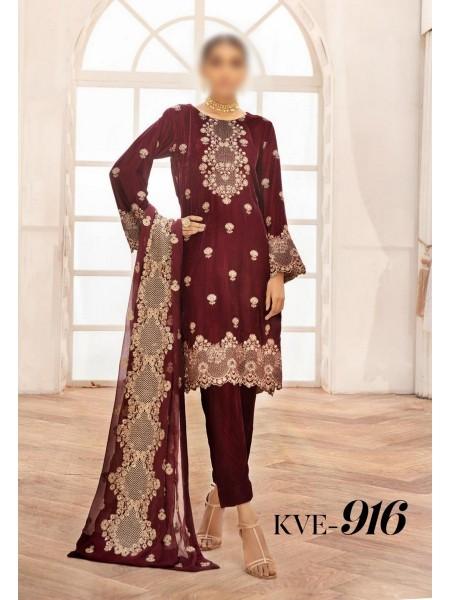 NUR Khoobsurat Luxe Ornamental Unstitched Collection D-KVE 916