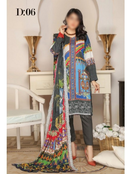 RANGRITI Unstitched Digital Viscose Printed Embroidered Collection D-06